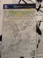 Auqaman sketch cover by hdub7