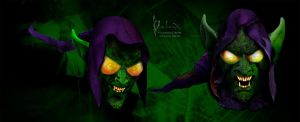 green goblin headshots by rainingcrow
