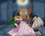 Zelda taking the blow by TheHeroine