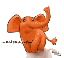 Red Elephant by Agent-Jolliday