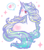 Super Sweetheart Unicorn by MissJediflip