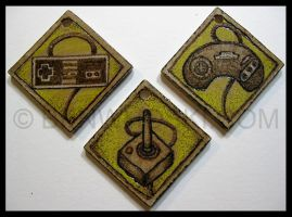 Classic Game Controller Pendants by benwhoski