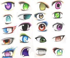 anime eyes final by VillainAurora