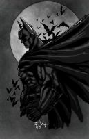 Batman Sketch and video by ErikVonLehmann