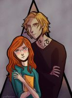 Commission - Clary and Jace by illustrationrookie