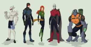 X-men team 1 by cspencey