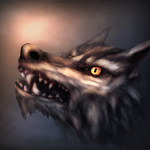 Wolf-like creature by Never7Dice