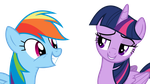 Twilight trolls Rainbow Dash by dasprid