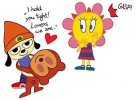 Parappa and PJ are lovers by LazyAsHell