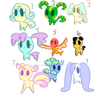 Creatures Point Adoptables OPEN by The-Keen