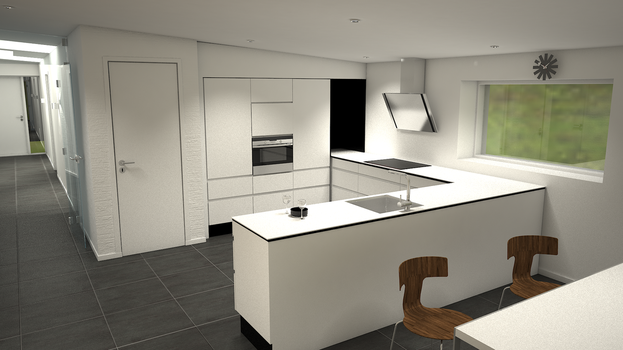 3d kitchen 2 by Thonbo