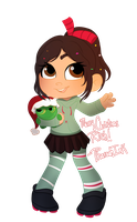 christmas vanellope by Pharaoh-Ink