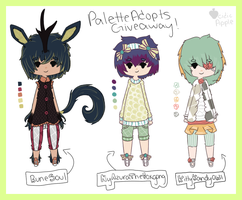 Palette Adopts Giveaway Raffle! [winners chosen!] by acidicapple