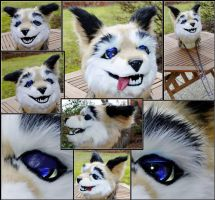 Mesh fursuit head by Tioh