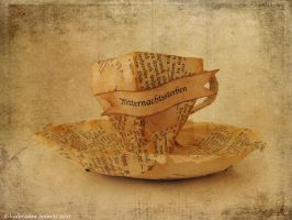 Papier mache Tea Cup by ValerianaSolaris