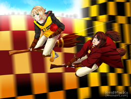 HA: Qudditch Hufflepuff vs Gryffindor by kentarocks