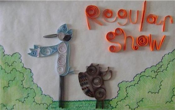 Regular Show Quilling by elsrdelpixel