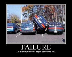 Parking Fail Demotivational by NeonVictorian