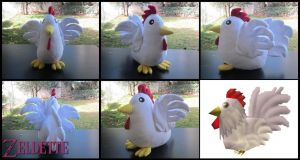 Cucco plush - LoZ by Miss-Zeldette