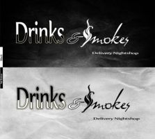 Drinks and Smokes store logo by Saphiregirl79