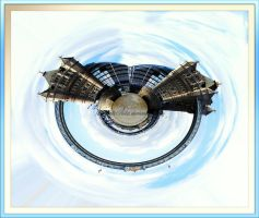 Mini-Planet Tower Bridge by printsILike
