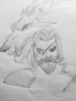 Sketch of Tyrius Redwood. by vuffer123