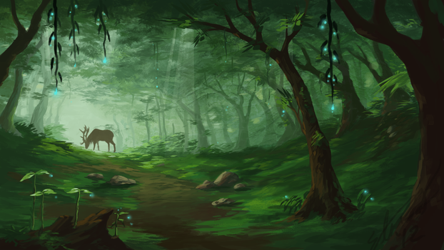 Home In The Forest by Alrynnas
