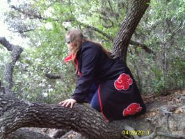 Deidara in a tree by Fallenangel1314
