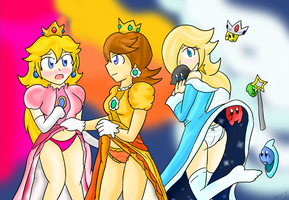 Princess Pin-Up: Trio by Xero-J
