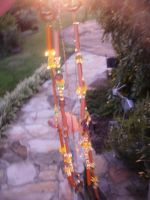 a homemade windchime by FoxiArtist