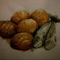 five loaves and two fishes by Ruthkpa