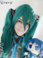 Hatsune Miku 2 years of cosplay Id by TheBrokenxDream