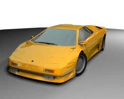 Lamborghini Diablo by illused