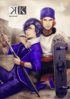 Fushimi and Yata by davidmccartney