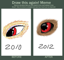 Draw This Again Meme - Wolf eye by WolfTwine