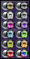Black Furry Pride Buttons by AirRaiser