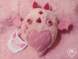 Pink Bat Plush by l0ll3
