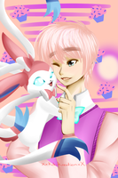 Me and My Pokemon: 2P!England and Sylveon by XxKikiKreationxX
