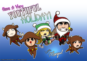 Xmas 2011, Happy Holidays by mongrelmarie
