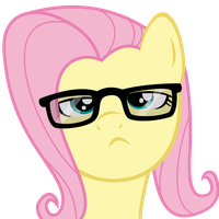Hipster Fluttershy by Synthrid
