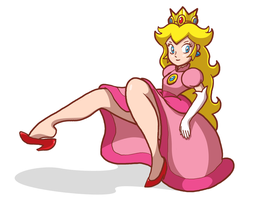 Princess Peach Doesn't Hover by AtomicTiki