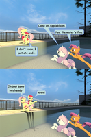 Fluttershy mean at the pool by Glaber