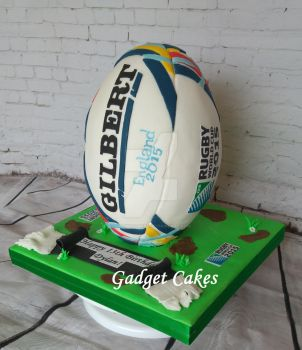 England 2015 Rugby World Cup Ball by gadgetcakes