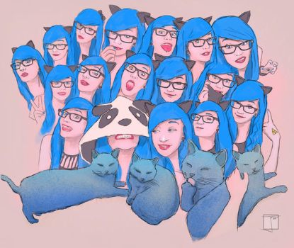Girl with the blue hair by SuperPhazed