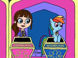 Blythe and Rainbow Dash in the Showcase by DJgames