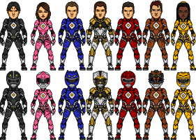 Ninjetti Rangers V2 (Updated) by Wolvengra