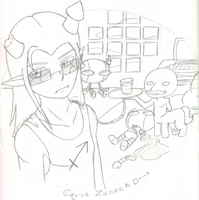 Sketch- Equius Desktop by queenofdavekat
