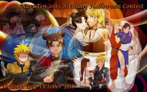 NaruTen 2013 Birthday Halloween Contest banner by JuPMod
