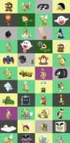 My Past Works: Enemy Pack by King-Bowser-Koopa