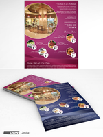 Restaurant flyer template by don2mba